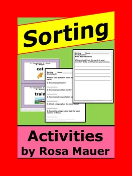 Sorting Activities Task Cards