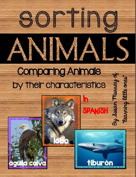 Sorting Animals by Characteristics in Spanish