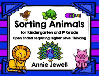 Sorting Animals for Kindergarten and 1st Grade