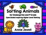 Sorting Animals for Kindergarten and 1st Grade