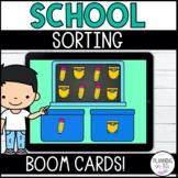 Sorting BOOM Cards School Supplies Digital Task Cards Back