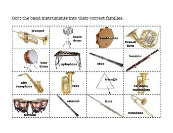 Sorting Band Instruments