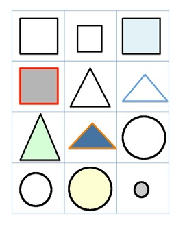 Sorting Basic Shapes