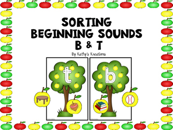 Sorting Beginning Sounds B And T