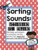 Sorting: Beginning vs. Ending Sounds