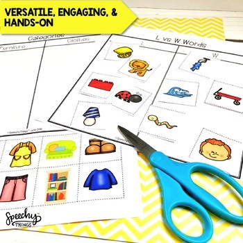 Sorting Speech AND Language BUNDLE - NO PREP Therapy