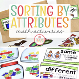 SORTING BY ATTRIBUTES: MATH ACTIVITIES FOR PRESCHOOL, PREK AND KINDERGARTEN