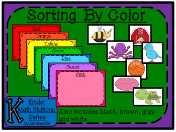 Sorting By Color-Kinder Math