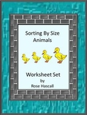 Sorting By Size Animals Fine Motor Skills Special Education Autism Kindergarten
