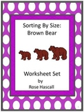 Sorting By Size Brown Bear Cut and Paste Kindergarten Math  Morning Work