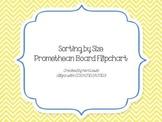 Sorting By Size Promethean Board Flipchart for kindergarten