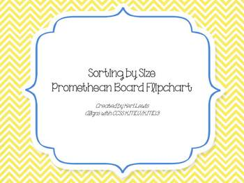 Sorting By Size Promethean Board Flipchart for kindergarten