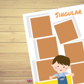 Singular and Plural Sorting Game⎜Singular and Plural Nouns⎜Grammar Game