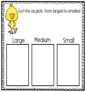 Sorting Centers and Activities for PreK and Kindergarten Sample Freebie