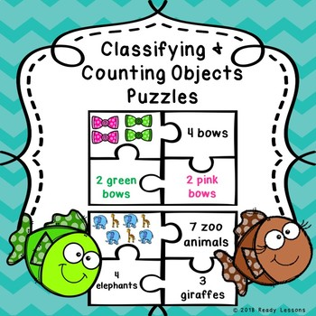 Sorting Classifying Categorize Counting Objects Kindergarten Game Puzzle K.MD.3