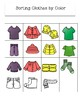 Sorting Clothes File Folder Game