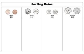 Sorting Coins Mat