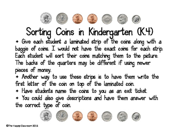 Sorting Coins in Kinder
