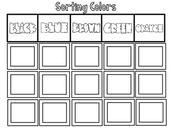 Sorting Colors Cut and Paste Worksheets