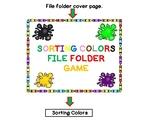 File Folder Game:  Sorting Colors