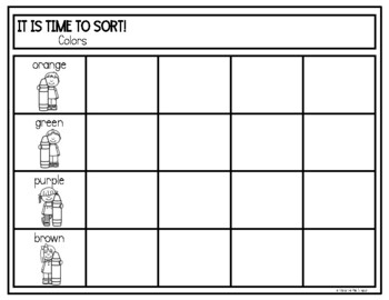 Sorting Colors in Spanish Clasificar colores #2