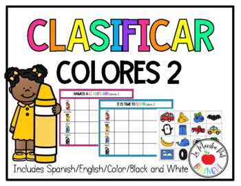Sorting Colors in Spanish Clasificar colores