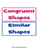 Sorting Congruent and Similar Shapes COMMON CORE ALIGNED 2.G.A.1