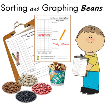 Sorting  Counting and Graphing Beans for Kindergarten Math