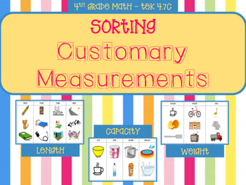 Sorting Customary Measurements (Length, Capacity, Weight)