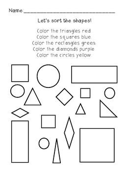 Sorting Data - Shapes