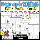 Sorting Digraphs Worksheets - sh, wh, th, qu, ch - Distanc