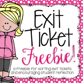 Sorting Common Core Exit Tickets {FREEBIE!}