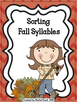 Syllables -Sorting Fall Syllables