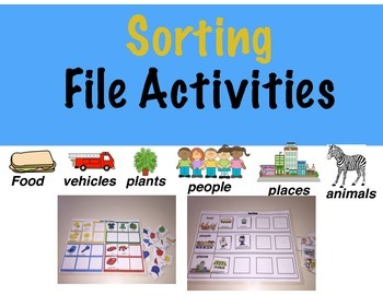 Sorting File Activities: Sort by people, places, foods, & more!