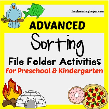 Advanced Sorting File Folder Activities for Preschool and