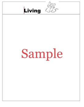 Sorting File Folder Game - Living or Non-Living