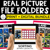 Sorting File Folders Bundle for Special Ed (REAL PICTURES)