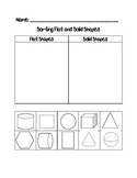 Sorting Flat and Solid Shapes Cut and Paste Activity