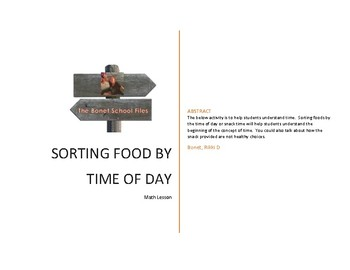 Sorting Food By Time of Day