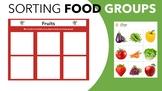 Sorting Food Groups