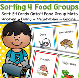Sorting Food Groups - Categorize 24 Cards onto 4 Food Groups Mats for Preschool