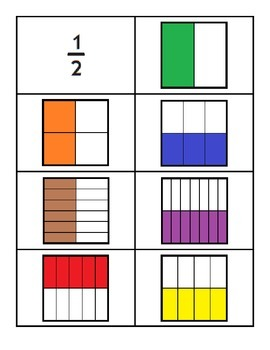 Sorting Fractions Cards