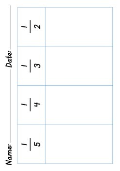 Sorting Fractions Maths Centres Worksheet Activity