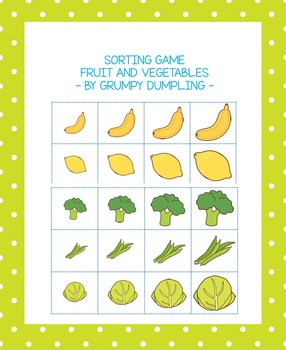 Sorting Game - Fruit and Vegetables