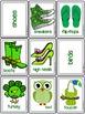 Green Color Sort & Classify Cards