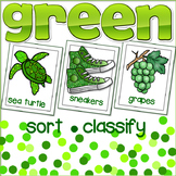 Green Color Sort & Classify Cards