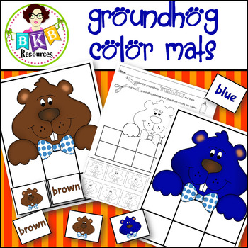 Sorting ● Groundhog Color Mats ● Colors ● Printable