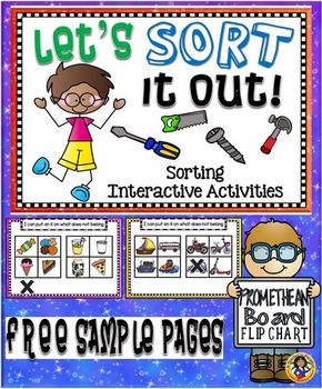 Sorting Interactive Activities – Promethean Board Flip Chart Free Sample Pages