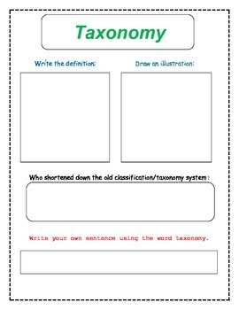 Sorting It All Out - Classification, Taxonomy, and Dichotomous Key