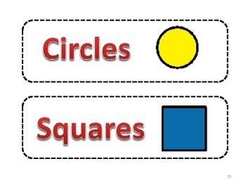 Sorting Items - Autism Spectrum: Special Ed; Regular Ed; Math Centers